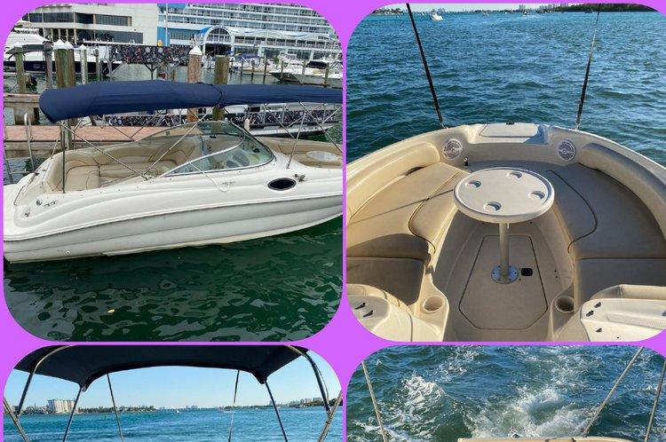 This 24.0' YAMAHA cand take up to 8 passengers around Miami Beach