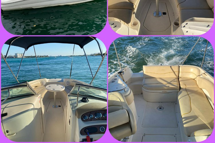 Discover Miami Beach surroundings on this 242X YAMAHA boat