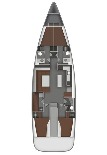This 54.0' Bavaria Yachtbau cand take up to 10 passengers around Cyclades