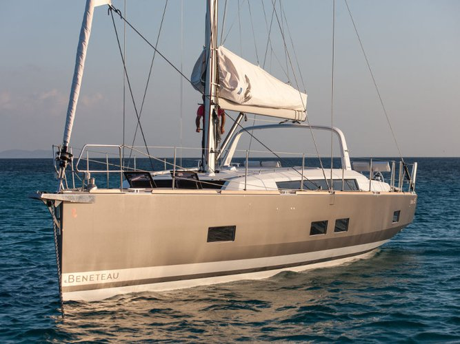 All you need to do is relax and have fun aboard the Beneteau Oceanis 55