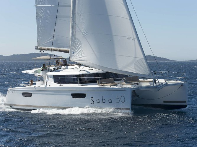 Enjoy Capo d'Orlando, IT to the fullest on our comfortable Fountaine Pajot Saba 50