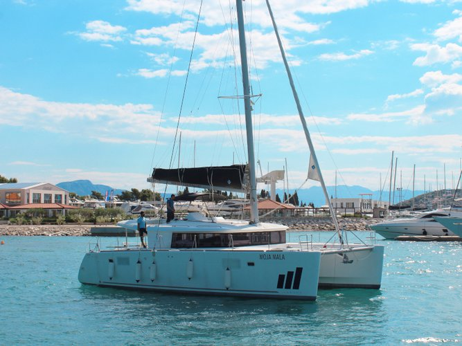 Hop aboard this amazing sailboat rental in Seget Donji!