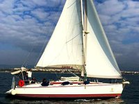 Hop aboard this amazing sailboat rental in Kanistro, Chalkidiki!