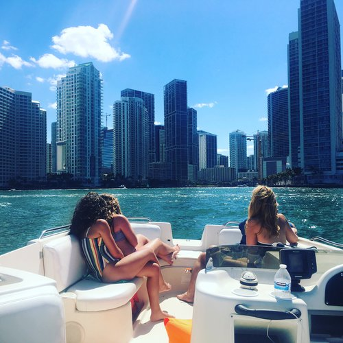 Deck boat boat rental in Brickell Marina, FL