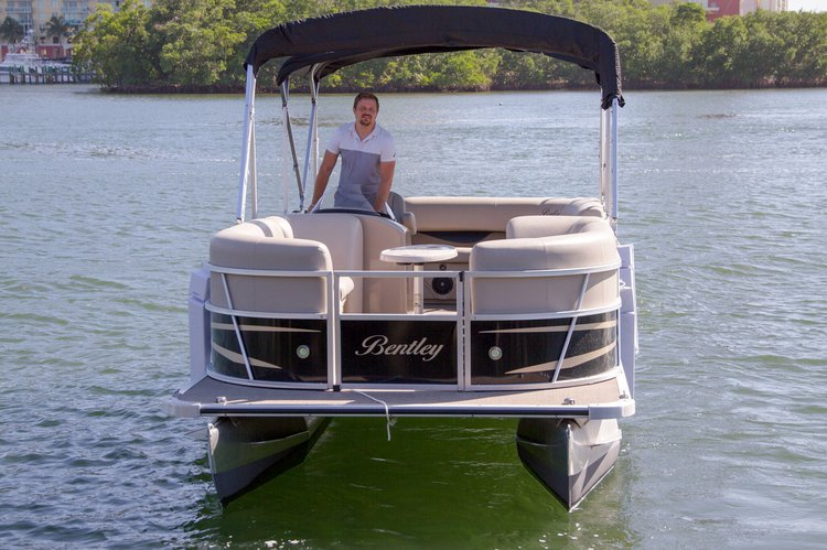 Boating is fun with a Pontoon in Sunny Isles Beach