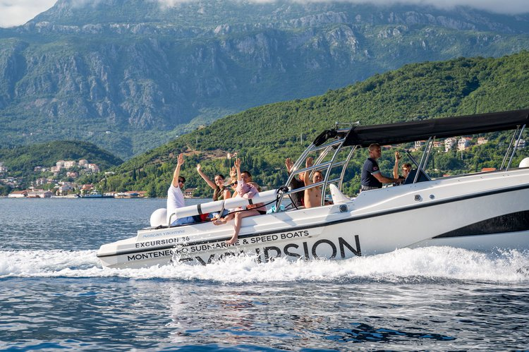 Boating is fun with a Motor boat in kotor