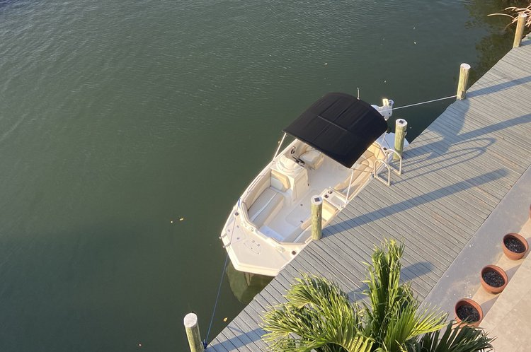 Boating is fun with a Deck boat in Sunny Isles Beach
