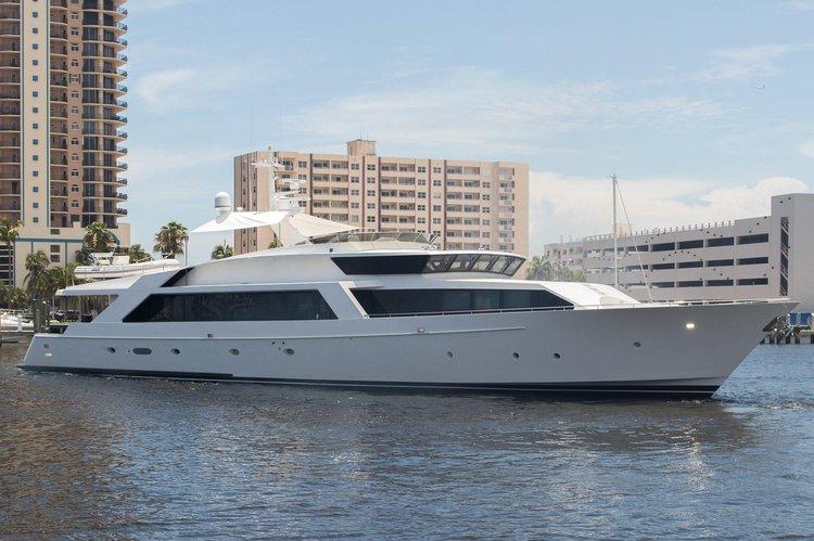 Mega yacht boat rental in West Palm Beach City Dock, FL
