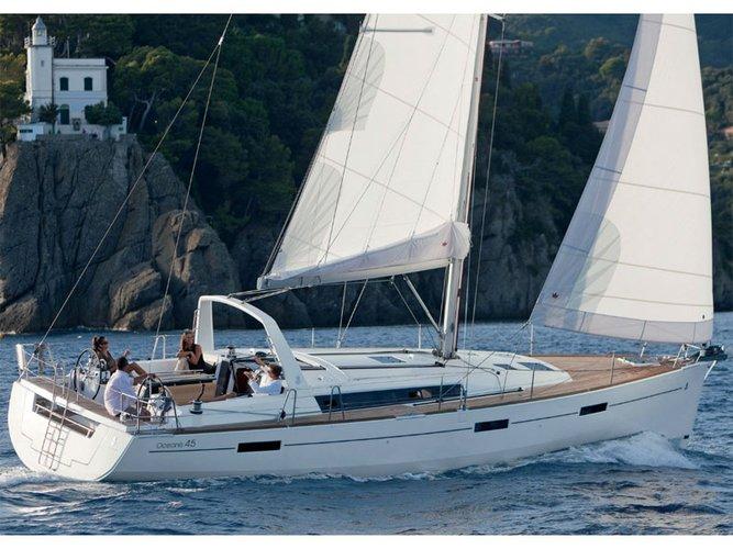 Sail Mykonos, GR waters on a beautiful Beneteau Oceanis 45 (3 cbs)
