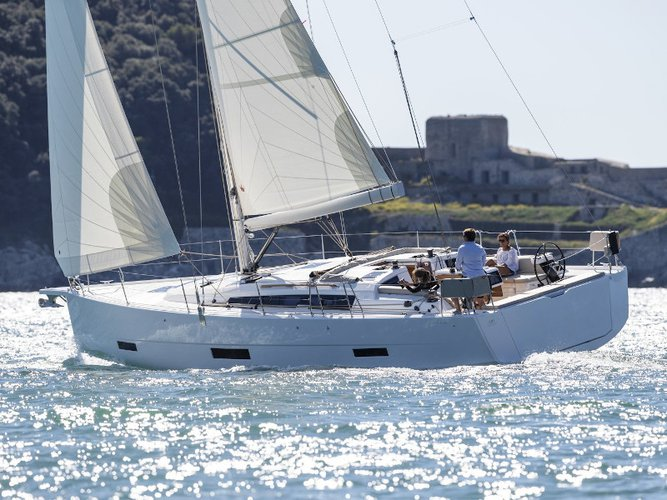 Sail the beautiful waters of Seget Donji on this cozy Dufour Yachts Dufour 430 Grand Large