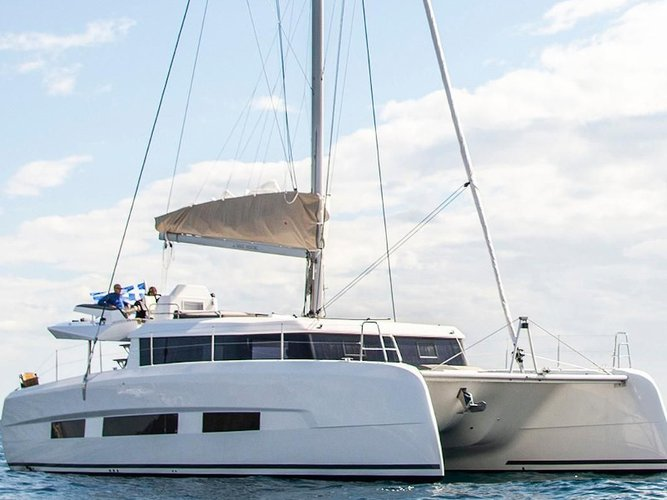 Sail the beautiful waters of Mykonos on this cozy Dufour Yachts Dufour 48