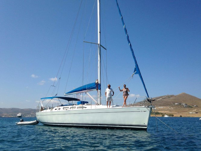 Sail Karistos, GR waters on a beautiful Jeanneau Sun Odyssey 43