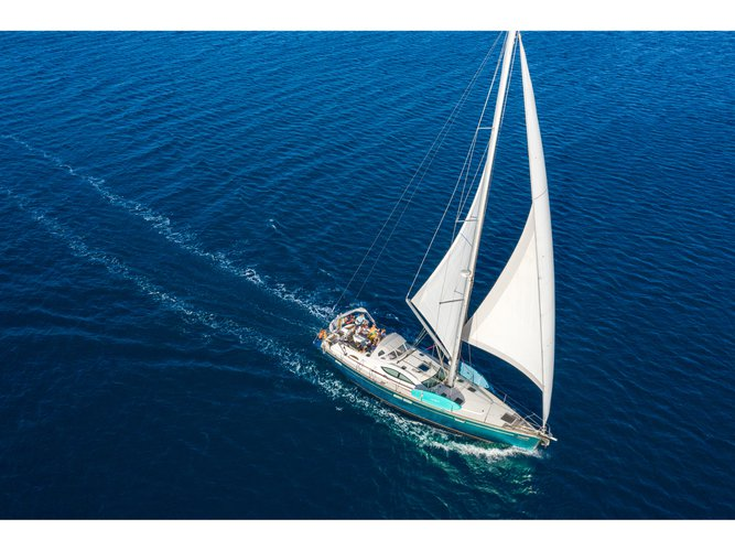 Sail Corfu, GR waters on a beautiful Jeanneau Sun Odyssey 54DS
