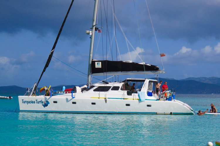 Hop on this beautiful catamaran and enjoy the Caribbean waters