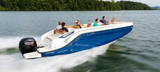 Have fun onboard the beautiful 22 ft motor boat