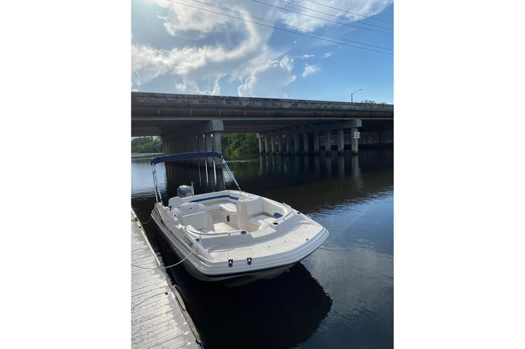 Deck boat boat rental in Holland Park Boat Ramps, FL