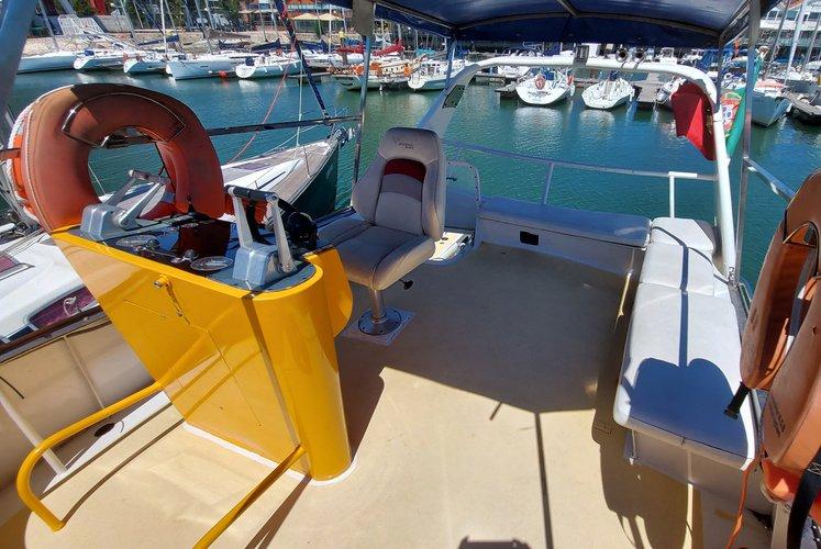 Boating is fun with a Catamaran in Alcantara