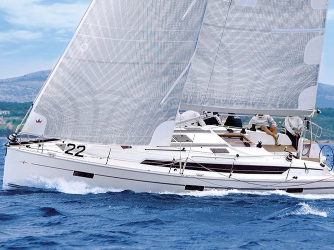 Sail the beautiful waters of Pirovac on this cozy Bavaria Yachtbau Bavaria Cruiser 41S