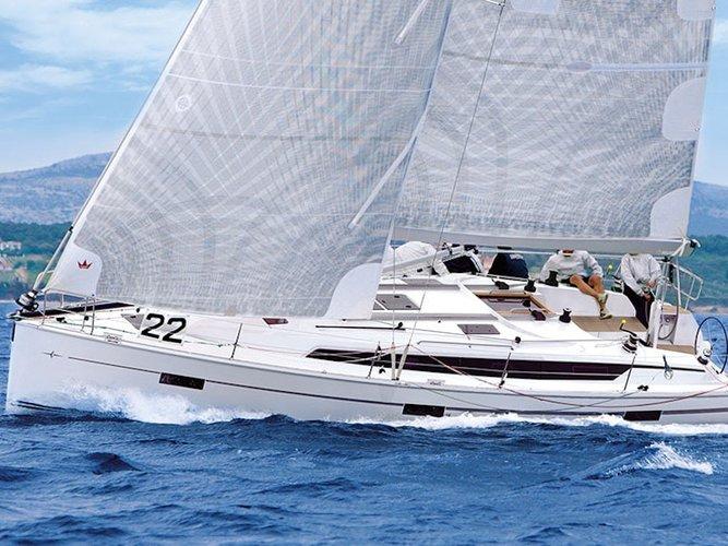 Sail the beautiful waters of Pirovac on this cozy Bavaria Yachtbau Bavaria Cruiser 41S