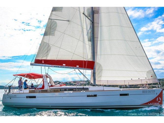 Experience Split, HR on board this amazing Beneteau Oceanis 45