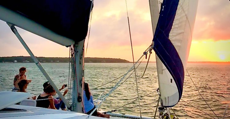 Catamaran boat for rent in Sag Harbor