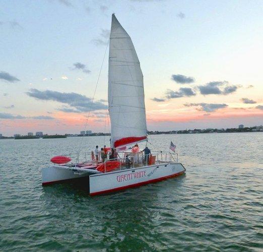 Catamaran boat rental in Miami, FL