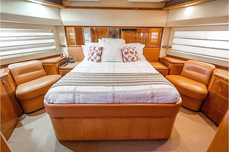 Discover Miami Beach surroundings on this 88 Ferritti boat