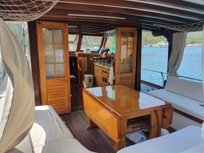 Discover Göcek surroundings on this 2014 MYMOON boat