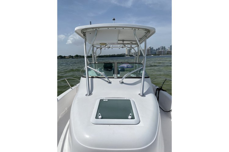 This 24.0' Proline cand take up to 10 passengers around Key Biscayne