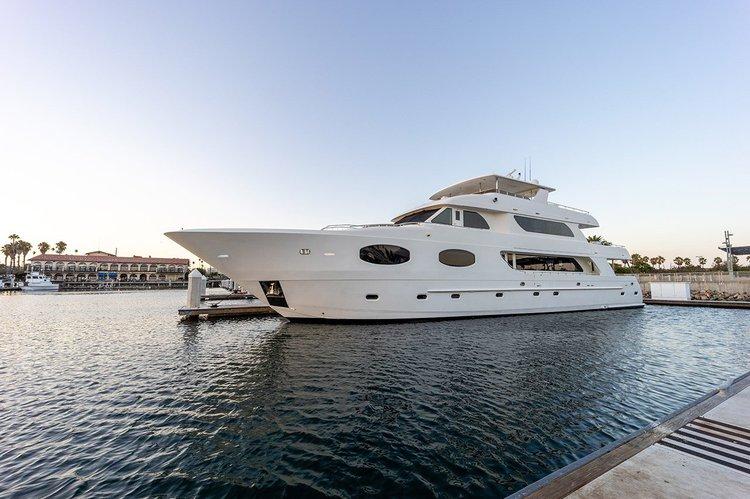 Charter unique 116' Transworld Custom Yacht in Long Beach CA