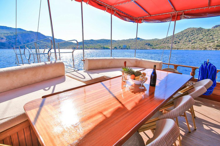 Discover Göcek surroundings on this 2010 GULET NAOS 1 boat