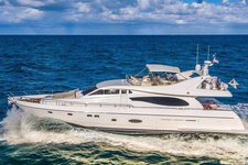 Set your dreams in motion in Florida aboard this amazing 73' Ferritti