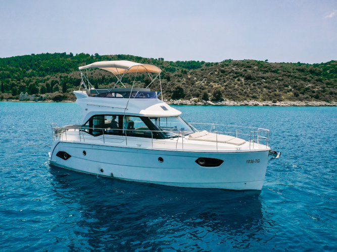 Discover Punat, Krk in style boating on this motor boat rental
