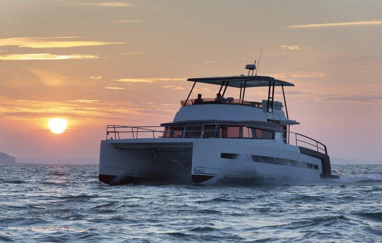 Charter this beautiful power catamaran in Miami