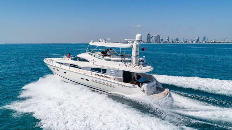 This 64.0' Fairline cand take up to 13 passengers around North Bay Village