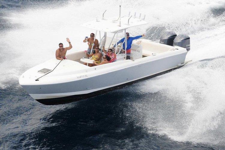 Cuddy cabin boat rental in Cruz Bay, U.S. Virgin Islands