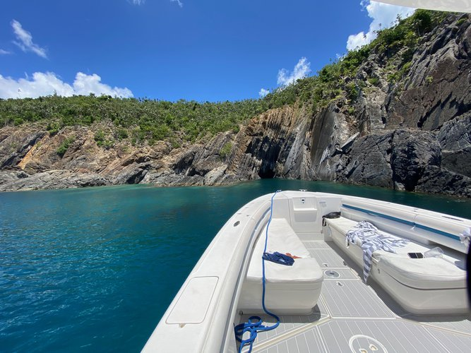 Center console boat for rent in Charlotte Amalie