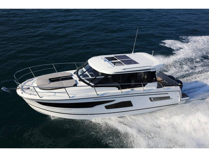 Get on the water and enjoy Rome in style on our Jeanneau Merry Fisher 1095