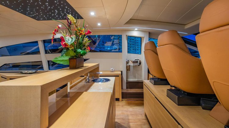 Discover North Bay Village surroundings on this S Pershing boat