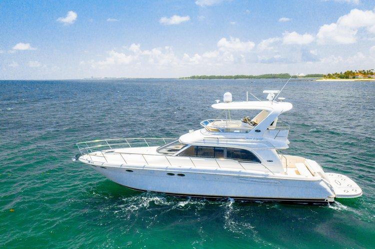 Flybridge boat rental in MBM - Miami Beach Marina, FL