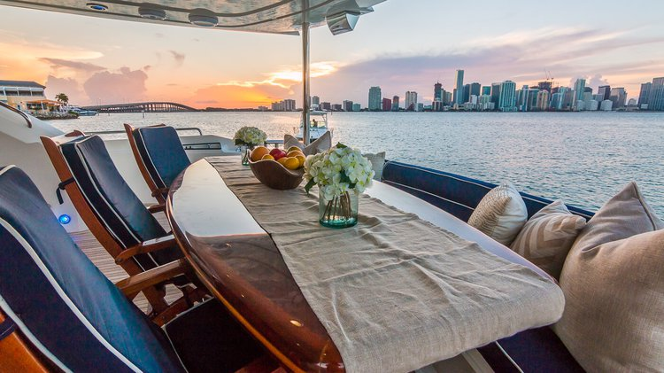 Boating is fun with a Sunseeker in Aventura
