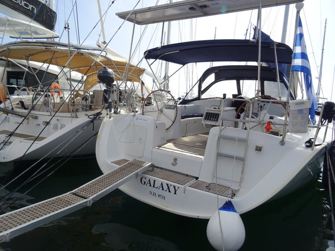 Sail the beautiful waters of Athens on this cozy Beneteau Cyclades 50.5