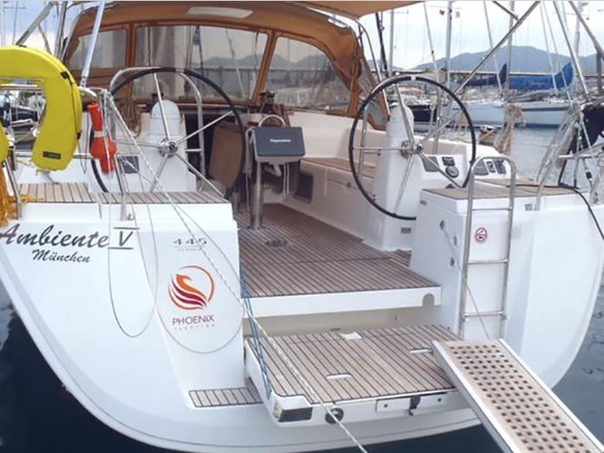 Climb aboard this Dufour Yachts Dufour 445 GL 6 pax for an unforgettable experience