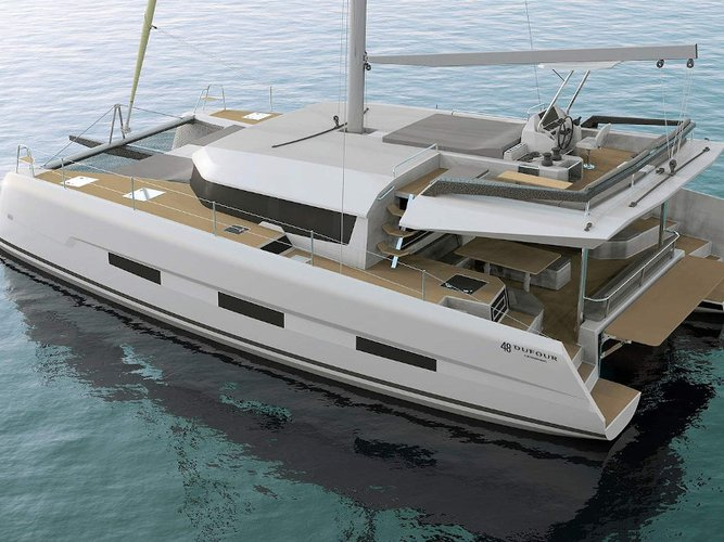 Take this Dufour Yachts Dufour Catamaran 48 for a spin!