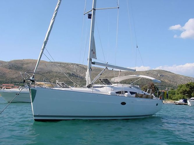 Sail the beautiful waters of Biograd on this cozy Elan Elan 384 Impression
