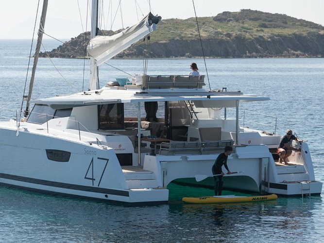 Enjoy Kaštel Gomilica, HR to the fullest on our comfortable Fountaine Pajot Fountaine Pajot Saona 47