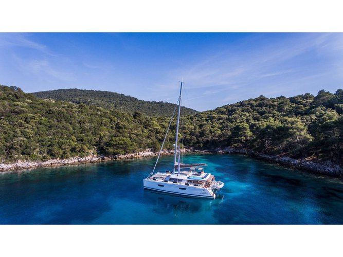Enjoy Seget Donji, HR to the fullest on our comfortable Fountaine Pajot Saba 50