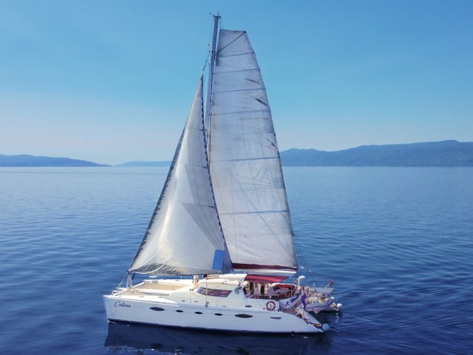 Sail the beautiful waters of Rijeka on this cozy Fountaine Pajot Eleuthera 60