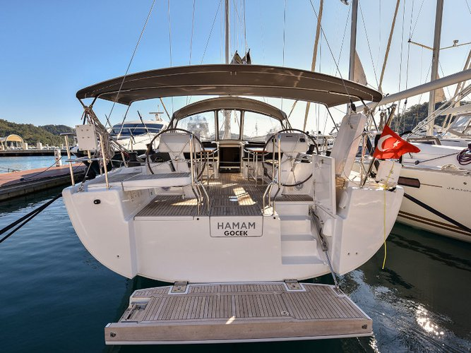 Experience Göcek, TR on board this amazing Hanse Yachts Hanse 508
