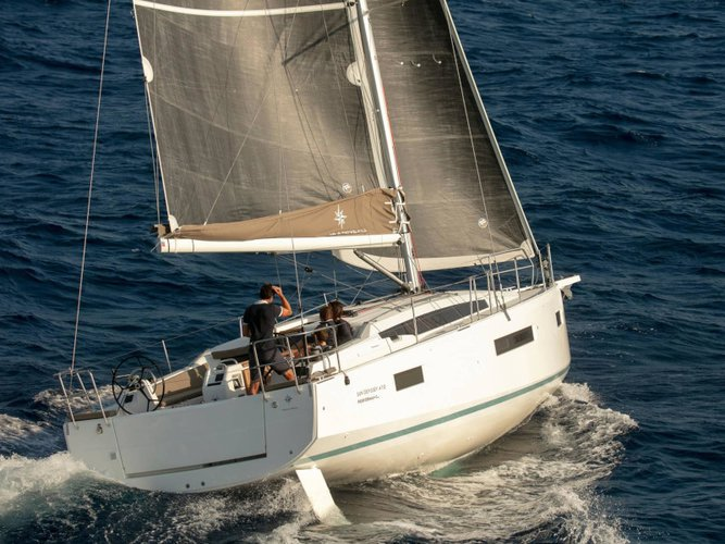 Rent this Jeanneau Sun Odyssey 410 Performance for a true nautical adventure